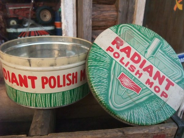 画像1: Vintage RADIANT MOP Tin Can (NK751)