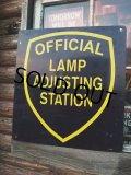 Vintage Metal Sign  / OFFICIAL LAMP ADJUSTING STATION (NK789)