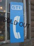 Vintage Public Telephone Sign / GTE (NK827)