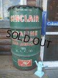 Vintage Drum SINCLAIR 120 lb Oil Can (NK986)