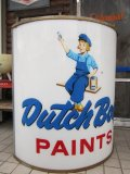 Vintage Dutch Boy Paint / Lighted Sign HUGE! (PJ243)