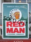 Vintage Red Man Chewing Tabacco Sign (PJ414)