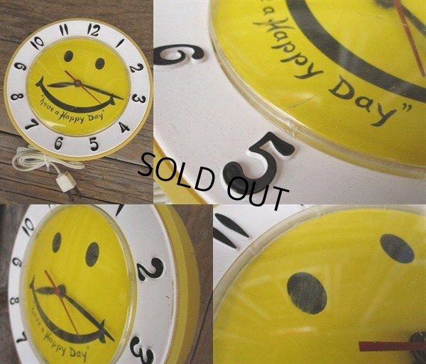 画像2: Vintage Smile Happy Face Wall Clock (PJ583)