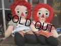 Vintage Raggedy Anne&Andy / Rug Doll Set #A (PJ598)