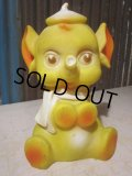 Vintage Rubber Doll Yellow Elephant (PJ647)