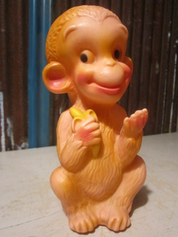 画像1: Vintage Doll Banana Monkey (PJ657)