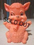 Vintage Rubber Doll Pink Lamb (PJ660)