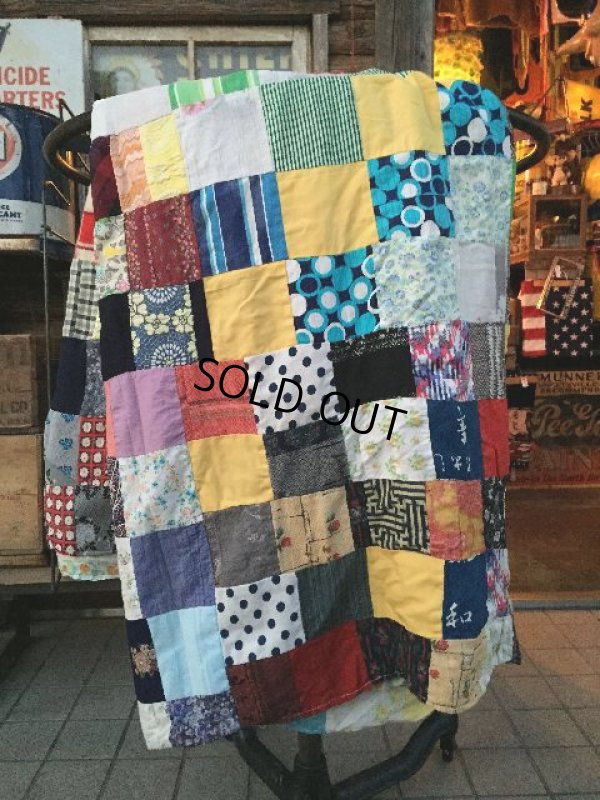 画像1: Vintage Fabric Patchwork #D (PJ738)