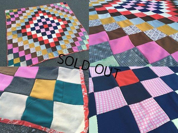 画像2: Vintage Fabric Patchwork #C (PJ737)