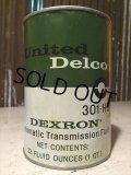 SALE Vintage United Delco Quart Can Motor Gas/Oil (PJ770)
