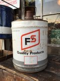 Vintage FS 5GL Motor Gas/Oil Can #B (PJ926)