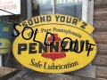 50s Vintage PENNZOIL Double Sided Sign (PJ959)