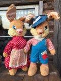 Vintage Gund Rubber Nose Doll / Bunny Set(DJ35)