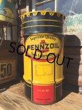 Vintage Drum Pennzoil 120 lb Oil Can (DJ85)