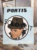 〜40s Vintage PORTIS HATS Card Board Sign (DJ118)