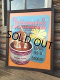 60s Tastee-Freez Advertiging Poster Sign / Butter Scotch Sundae (DJ143)