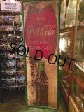 Vintage Coca-Cola Fish Tail Tin Sign (DJ212)