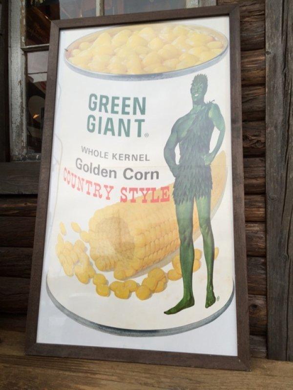 画像1: Vintage Advertising Poster Green Giant w/frame (DJ232)