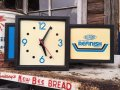 Vintage DU PONT Lighted Sign Clock (DJ230)