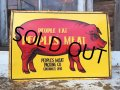 Vintage Peoples Meat Sign (DJ235)