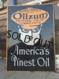Vintage OILZUM MOTOR OILS Porcelain Sign (DJ341)