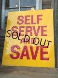 Vintage Cas Station Sign SELF SERVES... (DJ573)