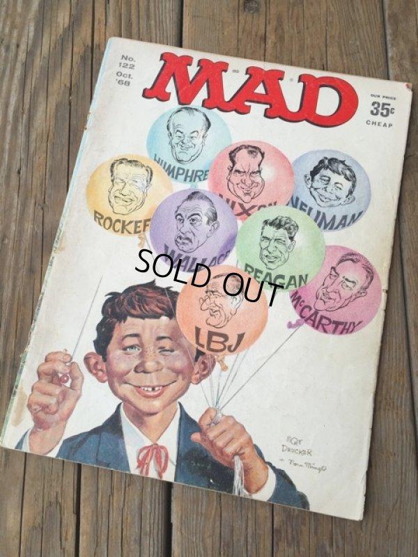 画像1: 60s Vintage MAD Magazine / No122 Oct '68 (DJ733)