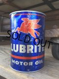 Vintage Mobil Quart Can Motor Gas/Oil (DJ768)