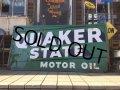 40s Vintage Quaker State Moter Oil Store Display Sign (DJ760)