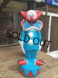 60s Vintage Bozo The Clown Fun Bath Bottel (DJ778)