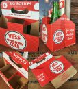 画像2: Vintage Soda 6-Pac bottles Cardboard carrying case / Vess (DJ920) (2)