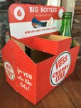 画像1: Vintage Soda 6-Pac bottles Cardboard carrying case / Vess (DJ920) (1)