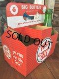 Vintage Soda 6-Pac bottles Cardboard carrying case / Vess (DJ920)
