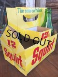 Vintage Soda 6-Pac bottles Cardboard carrying case / Squirt (DJ921)