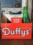 画像1: Vintage Soda 6-Pac bottles Cardboard carrying case / Duffy's (DJ917) (1)