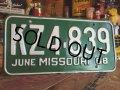 60s Vintage Lisence Plate / KZ4-839 (MA28)