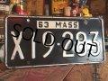 60s Vintage Lisence Plate / X19-283 (MA33)