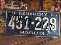 60s Vintage Lisence Plate / 451-228 (MA30)