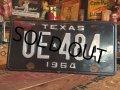 60s Vintage Lisence Plate / UE-484 (MA38)
