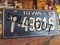 60s Vintage Lisence Plate / 7-49616 (MA32)