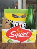Vintage Soda 6-Pac bottles Cardboard carrying case / Squirt (MA55)