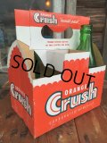 Vintage Soda 6-Pac bottles Cardboard carrying case / Crush (MA52)