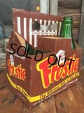 Vintage Soda 6-Pac bottles Cardboard carrying case / Frostie (MA53)