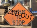 Vintage Road Sign PREPARE TO STOP (MA62)