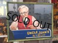 Vintage Uncle Johns Syrup Card Board Sing (MA155)