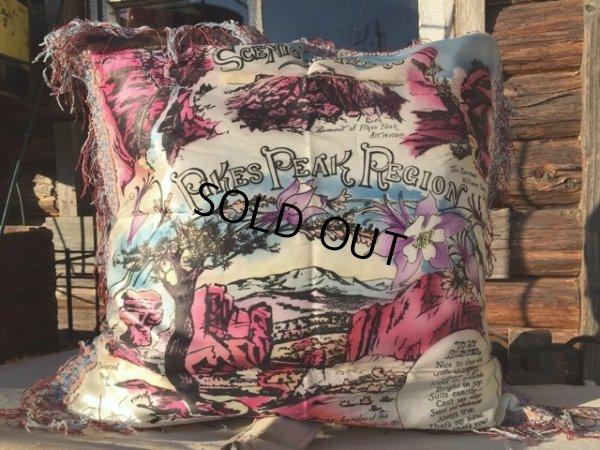 画像1: Vintage Souvenir Cushion PIKES PEAK REGION (MA193)