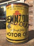 Vintage PENNZOIL 1 Quart Motor Oil Can (MA290)