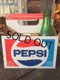 Vintage Soda 6-Pac bottles Cardboard carrying case / Pepsi (MA317)