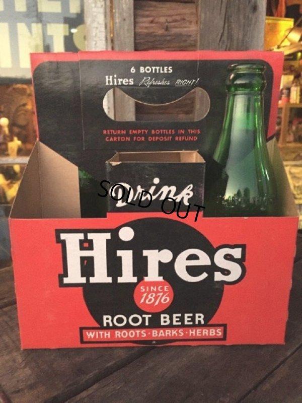 画像1: Vintage Soda 6-Pac bottles Cardboard carrying case / Hires (MA319)
