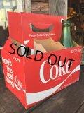Vintage Soda 6-Pac bottles Cardboard carrying case / Coca Cola (DJ309)